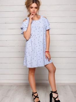 Голубое летнее платье Софи