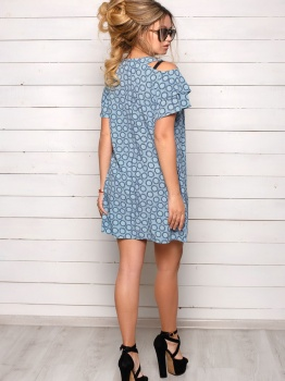 Серо-голубое платье Софи