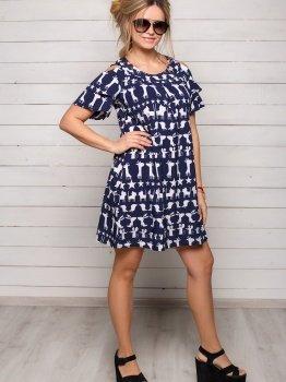 Темное-синее платье Софи на лето